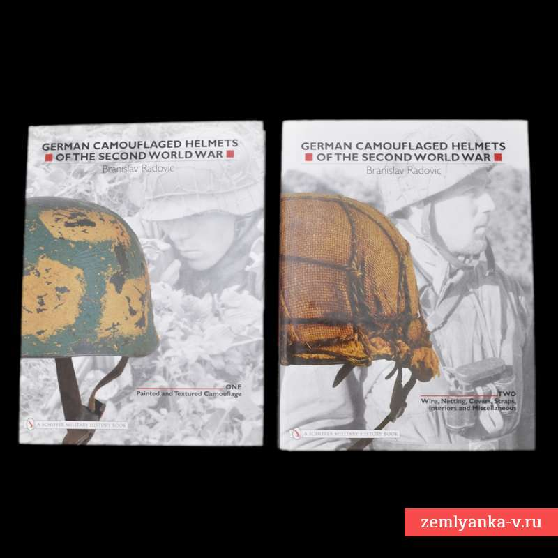 Книги «German Camouflaged Helmets of the Second World. Vol.1 and Vol.2»