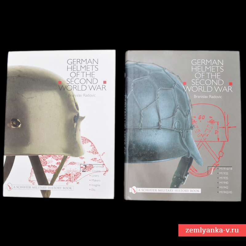 Книги «German Helmets of the Second World War. Vol.1 and Vol.2»